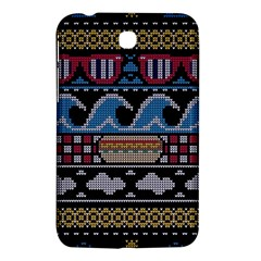 Ugly Summer Ugly Holiday Christmas Black Background Samsung Galaxy Tab 3 (7 ) P3200 Hardshell Case  by Onesevenart