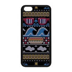 Ugly Summer Ugly Holiday Christmas Black Background Apple Iphone 5c Seamless Case (black) by Onesevenart
