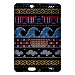 Ugly Summer Ugly Holiday Christmas Black Background Amazon Kindle Fire Hd (2013) Hardshell Case by Onesevenart
