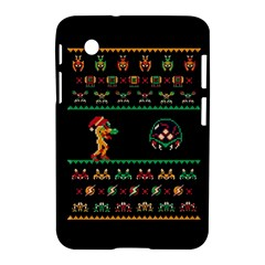 We Wish You A Metroid Christmas Ugly Holiday Christmas Black Background Samsung Galaxy Tab 2 (7 ) P3100 Hardshell Case  by Onesevenart