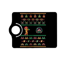 We Wish You A Metroid Christmas Ugly Holiday Christmas Black Background Kindle Fire Hd (2013) Flip 360 Case by Onesevenart
