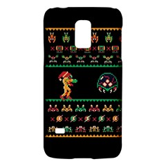 We Wish You A Metroid Christmas Ugly Holiday Christmas Black Background Galaxy S5 Mini by Onesevenart