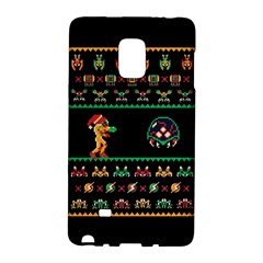 We Wish You A Metroid Christmas Ugly Holiday Christmas Black Background Galaxy Note Edge by Onesevenart
