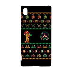 We Wish You A Metroid Christmas Ugly Holiday Christmas Black Background Sony Xperia Z3+ by Onesevenart