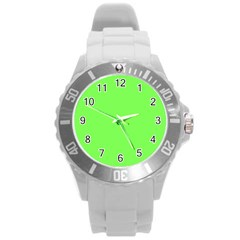 Neon Color   Light Brilliant Harlequin Round Plastic Sport Watch (l) by tarastyle