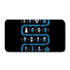 Who Is Outside Ugly Holiday Christmas Black Background Medium Bar Mats by Onesevenart