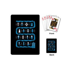 Who Is Outside Ugly Holiday Christmas Black Background Playing Cards (mini)  by Onesevenart