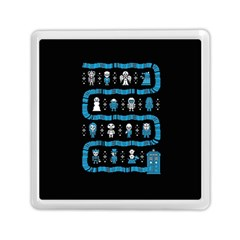 Who Is Outside Ugly Holiday Christmas Black Background Memory Card Reader (square)  by Onesevenart