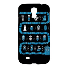 Who Is Outside Ugly Holiday Christmas Black Background Samsung Galaxy S4 I9500/i9505 Hardshell Case by Onesevenart