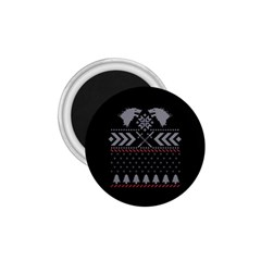 Winter Is Coming Game Of Thrones Ugly Christmas Black Background 1 75  Magnets by Onesevenart
