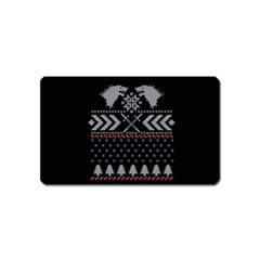 Winter Is Coming Game Of Thrones Ugly Christmas Black Background Magnet (name Card) by Onesevenart
