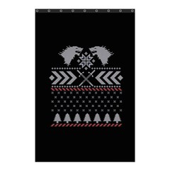 Winter Is Coming Game Of Thrones Ugly Christmas Black Background Shower Curtain 48  X 72  (small)  by Onesevenart