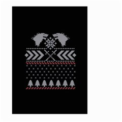 Winter Is Coming Game Of Thrones Ugly Christmas Black Background Large Garden Flag (two Sides) by Onesevenart