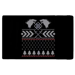 Winter Is Coming Game Of Thrones Ugly Christmas Black Background Apple Ipad 3/4 Flip Case by Onesevenart