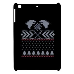 Winter Is Coming Game Of Thrones Ugly Christmas Black Background Apple Ipad Mini Hardshell Case by Onesevenart