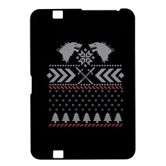 Winter Is Coming Game Of Thrones Ugly Christmas Black Background Kindle Fire Hd 8 9  by Onesevenart
