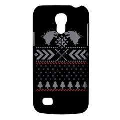 Winter Is Coming Game Of Thrones Ugly Christmas Black Background Galaxy S4 Mini by Onesevenart