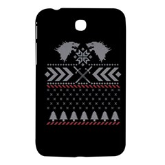 Winter Is Coming Game Of Thrones Ugly Christmas Black Background Samsung Galaxy Tab 3 (7 ) P3200 Hardshell Case  by Onesevenart
