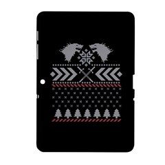 Winter Is Coming Game Of Thrones Ugly Christmas Black Background Samsung Galaxy Tab 2 (10 1 ) P5100 Hardshell Case  by Onesevenart