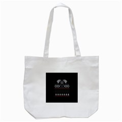 Winter Is Coming Game Of Thrones Ugly Christmas Black Background Tote Bag (white) by Onesevenart