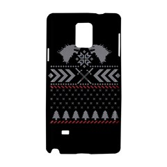 Winter Is Coming Game Of Thrones Ugly Christmas Black Background Samsung Galaxy Note 4 Hardshell Case by Onesevenart