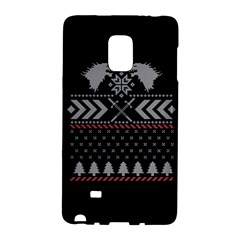 Winter Is Coming Game Of Thrones Ugly Christmas Black Background Galaxy Note Edge by Onesevenart