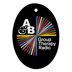 Above & Beyond  Group Therapy Radio Ornament (oval) by Onesevenart