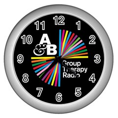 Above & Beyond  Group Therapy Radio Wall Clocks (silver)  by Onesevenart
