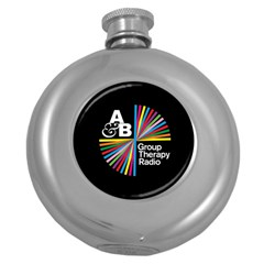 Above & Beyond  Group Therapy Radio Round Hip Flask (5 Oz) by Onesevenart