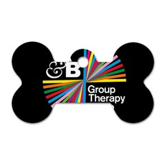 Above & Beyond  Group Therapy Radio Dog Tag Bone (two Sides) by Onesevenart