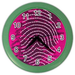 Above & Beyond Sticky Fingers Color Wall Clocks by Onesevenart