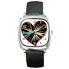 Above & Beyond Square Metal Watch by Onesevenart