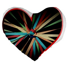 Above & Beyond Large 19  Premium Heart Shape Cushions by Onesevenart
