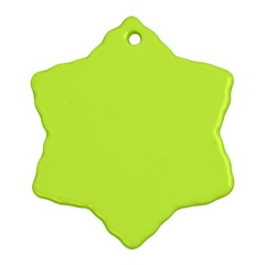 Neon Color   Light Brilliant Lime Green Snowflake Ornament (two Sides) by tarastyle