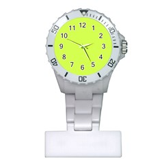 Neon Color   Light Brilliant Lime Green Plastic Nurses Watch by tarastyle