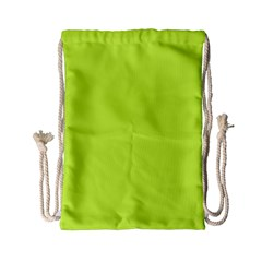 Neon Color   Light Brilliant Lime Green Drawstring Bag (small) by tarastyle