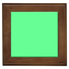 Neon Color   Light Brilliant Malachite Green Framed Tiles by tarastyle