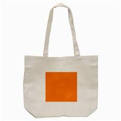 Neon Color   Light Brilliant Orange Tote Bag (cream) by tarastyle