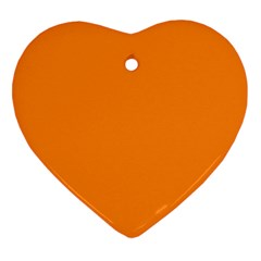 Neon Color   Light Brilliant Orange Heart Ornament (two Sides) by tarastyle