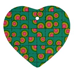 Tiled Circular Gradients Ornament (heart) by linceazul