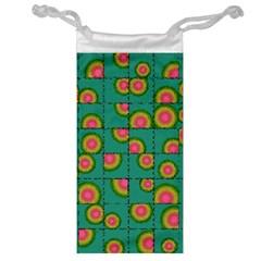 Tiled Circular Gradients Jewelry Bag by linceazul