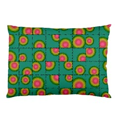 Tiled Circular Gradients Pillow Case by linceazul
