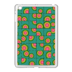 Tiled Circular Gradients Apple Ipad Mini Case (white) by linceazul