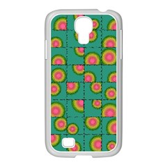 Tiled Circular Gradients Samsung Galaxy S4 I9500/ I9505 Case (white) by linceazul