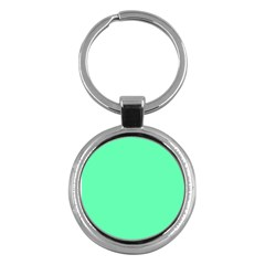 Neon Color   Light Brilliant Spring Green Key Chains (round)  by tarastyle