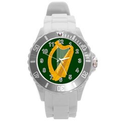 Flag Of Leinster Round Plastic Sport Watch (l) by abbeyz71