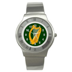 Flag Of Leinster Stainless Steel Watch by abbeyz71