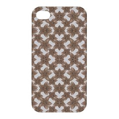 Stylized Leaves Floral Collage Apple Iphone 4/4s Premium Hardshell Case by dflcprints