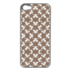 Stylized Leaves Floral Collage Apple Iphone 5 Case (silver) by dflcprints