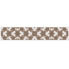 Stylized Leaves Floral Collage Flano Scarf (large)  by dflcprints